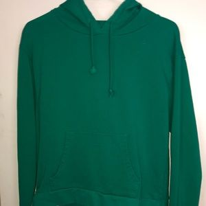 top shop green hoodie